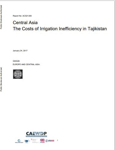 The costs of irrigation inefficiency in Tajikistan