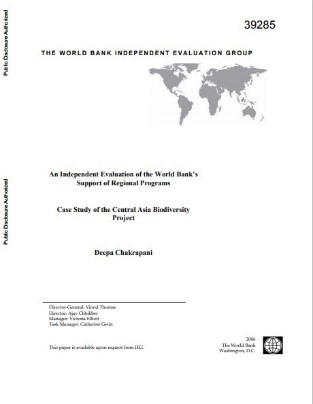Case Study of the Central Asia Biodiversity Project : an independent evaluation of the World Bank's support of regional programs